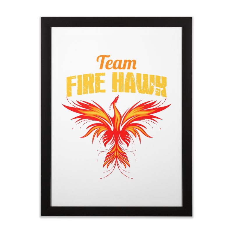 team fire hawk Home Framed Fine Art Print by 8010az's Shop