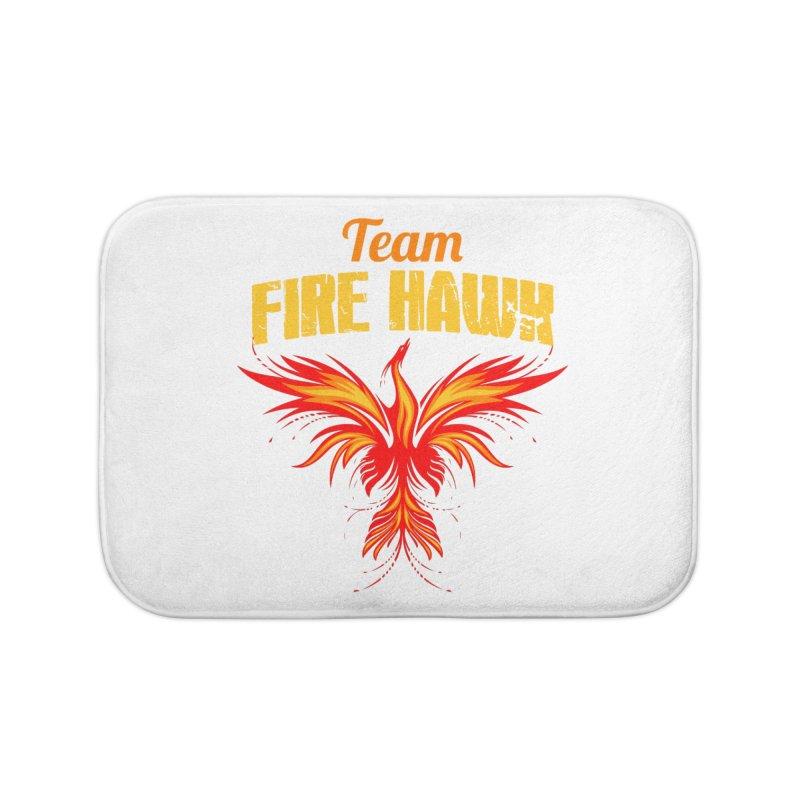 team fire hawk Home Bath Mat by 8010az's Shop
