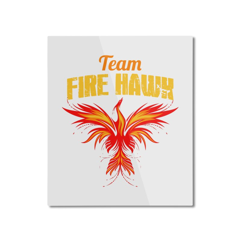 team fire hawk Home Mounted Aluminum Print by 8010az's Shop