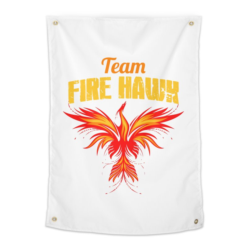 team fire hawk Home Tapestry by 8010az's Shop