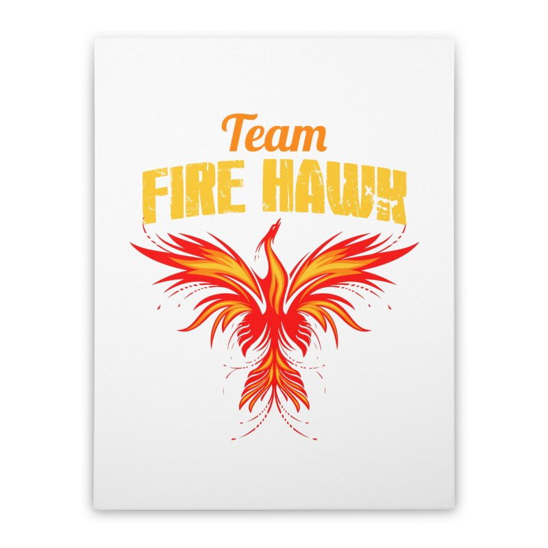 team fire hawk Home Stretched Canvas by 8010az's Shop