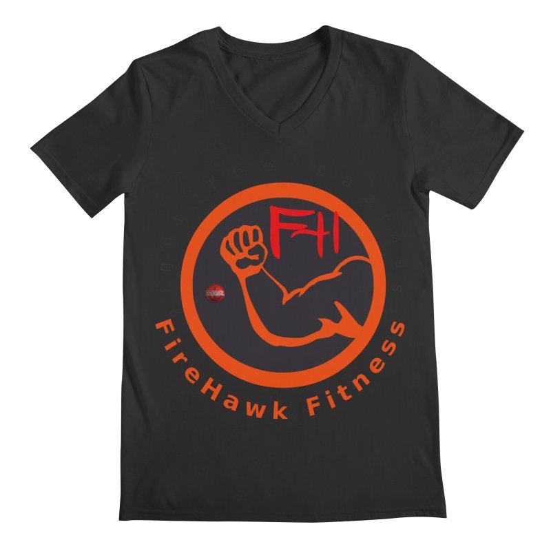 FireHawk Fitness Men's Regular V-Neck by 8010az's Shop