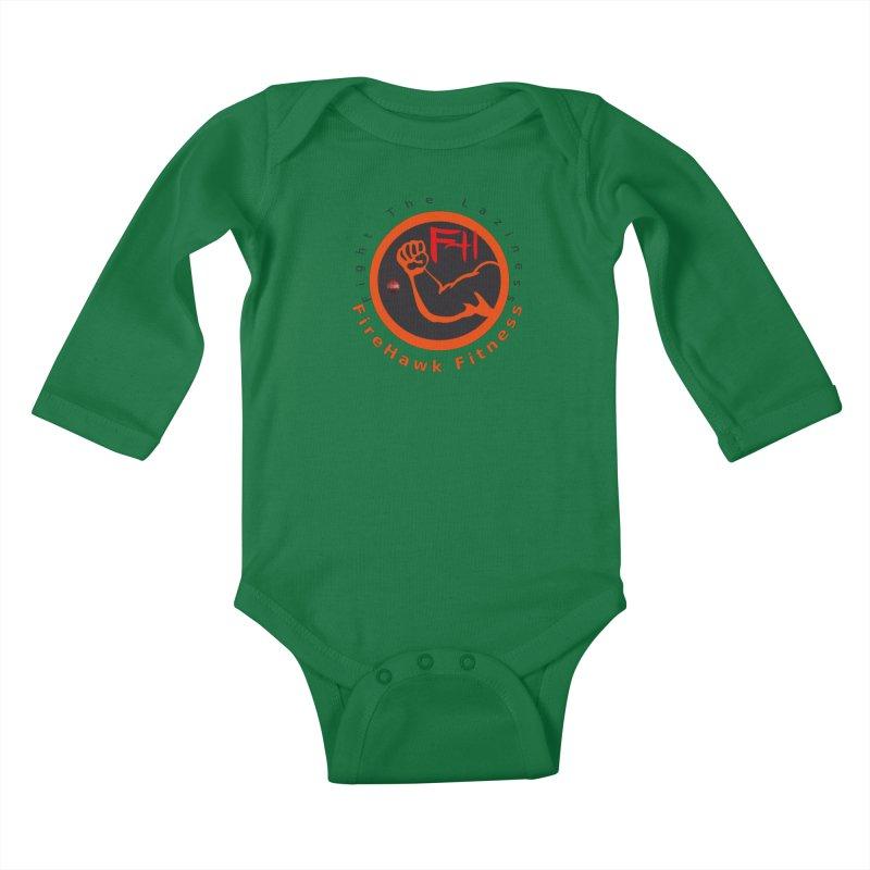 FireHawk Fitness Kids Baby Longsleeve Bodysuit by 8010az's Shop