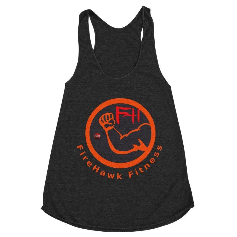 FireHawk Fitness Women's Racerback Triblend Tank by 8010az's Shop