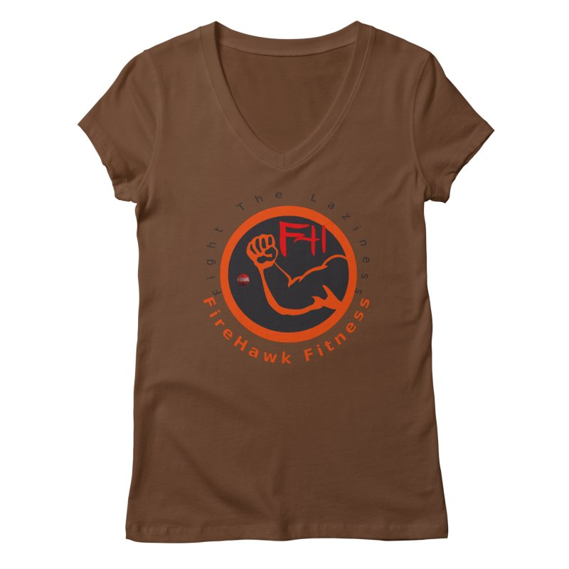 FireHawk Fitness Women's Regular V-Neck by 8010az's Shop