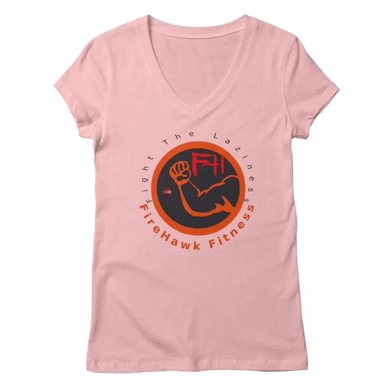 FireHawk Fitness Women's Regular V-Neck by 8010az's Shop