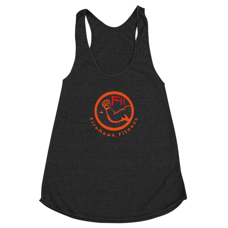FireHawk Fitness Women's Racerback Triblend Tank by 8010az's Shop