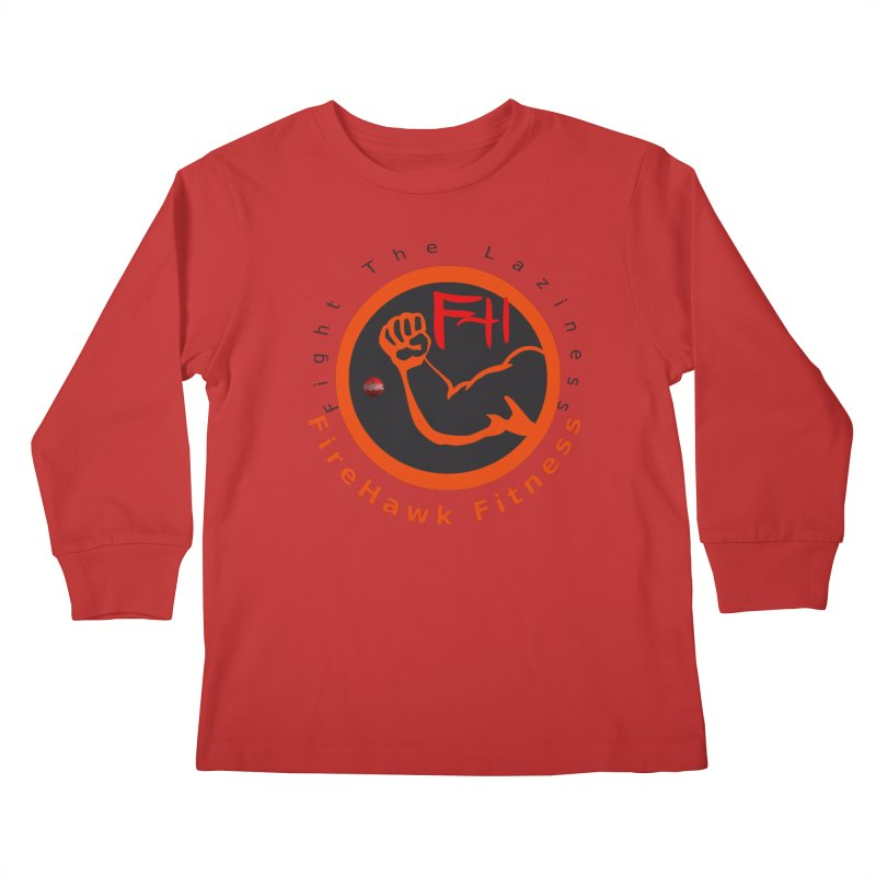 FireHawk Fitness Kids Longsleeve T-Shirt by 8010az's Shop