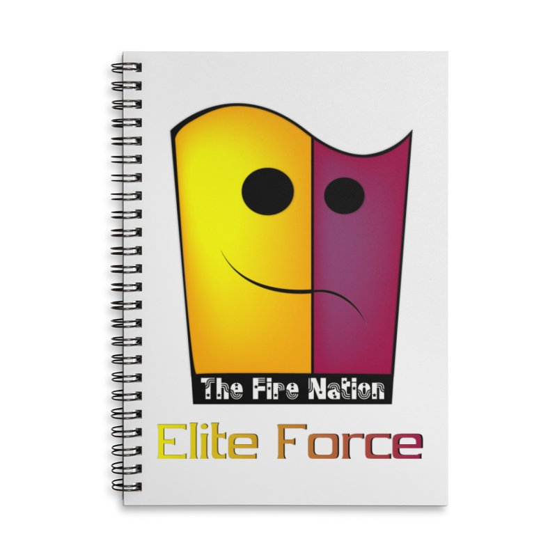 Fire Nation Elite Force Accessories Lined Spiral Notebook by 8010az's Shop