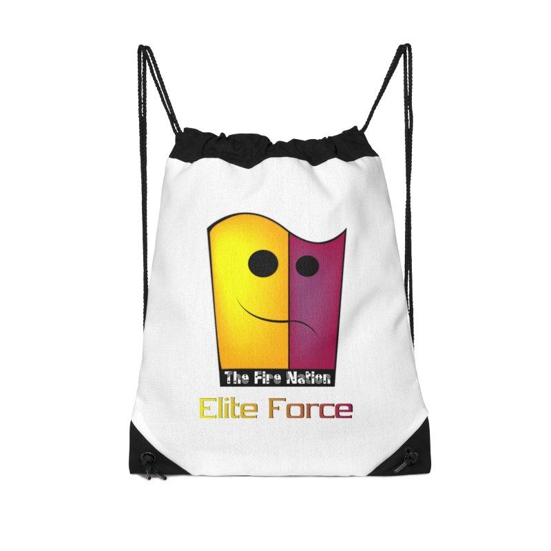 Fire Nation Elite Force Accessories Drawstring Bag Bag by 8010az's Shop