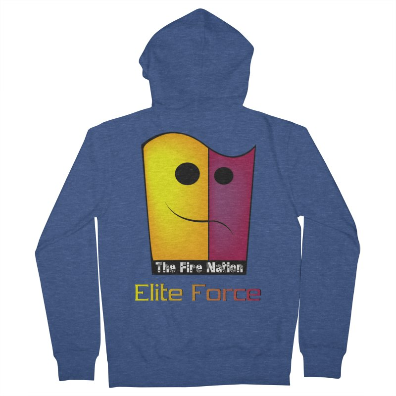 Fire Nation Elite Force Men's French Terry Zip-Up Hoody by 8010az's Shop