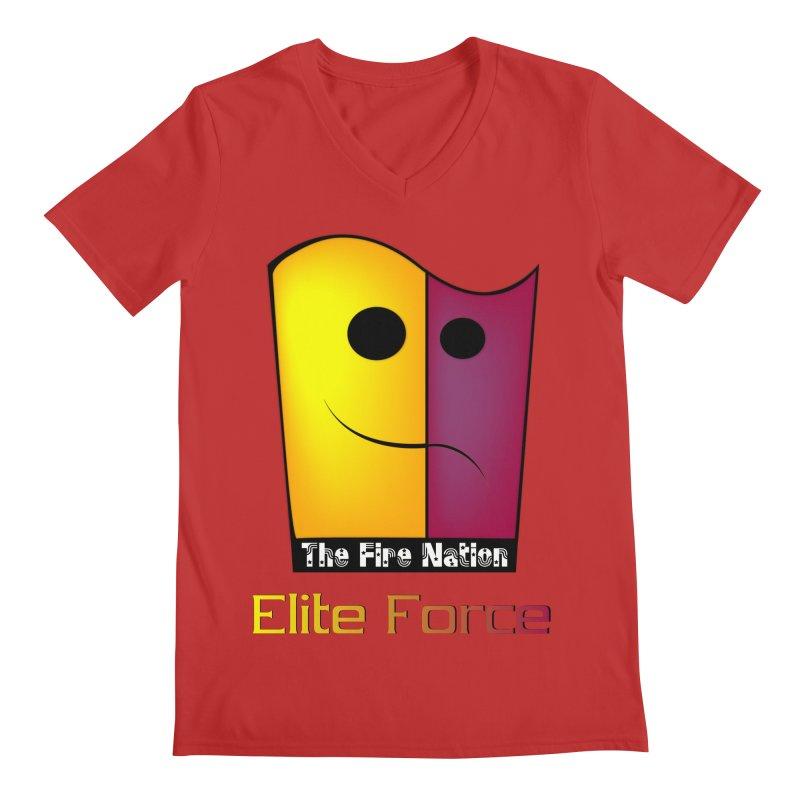 Fire Nation Elite Force Men's Regular V-Neck by 8010az's Shop