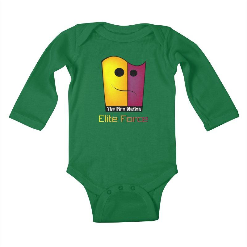 Fire Nation Elite Force Kids Baby Longsleeve Bodysuit by 8010az's Shop