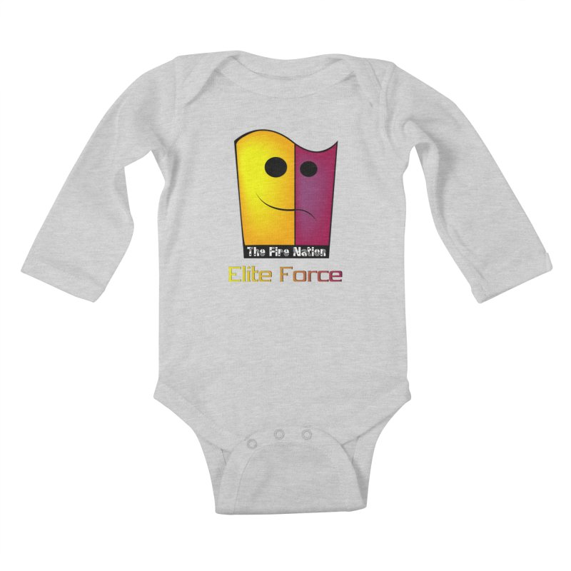Fire Nation Elite Force Kids Baby Longsleeve Bodysuit by 8010az's Shop