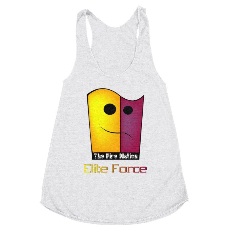 Fire Nation Elite Force Women's Racerback Triblend Tank by 8010az's Shop