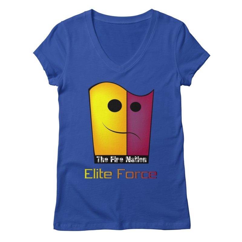 Fire Nation Elite Force Women's Regular V-Neck by 8010az's Shop