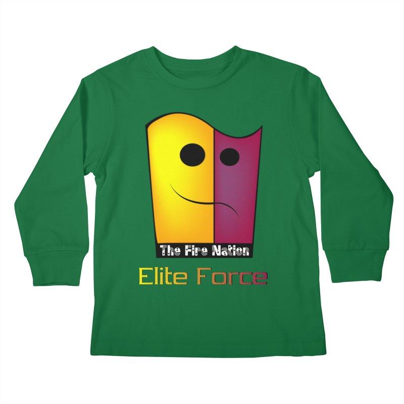 Fire Nation Elite Force Kids Longsleeve T-Shirt by 8010az's Shop