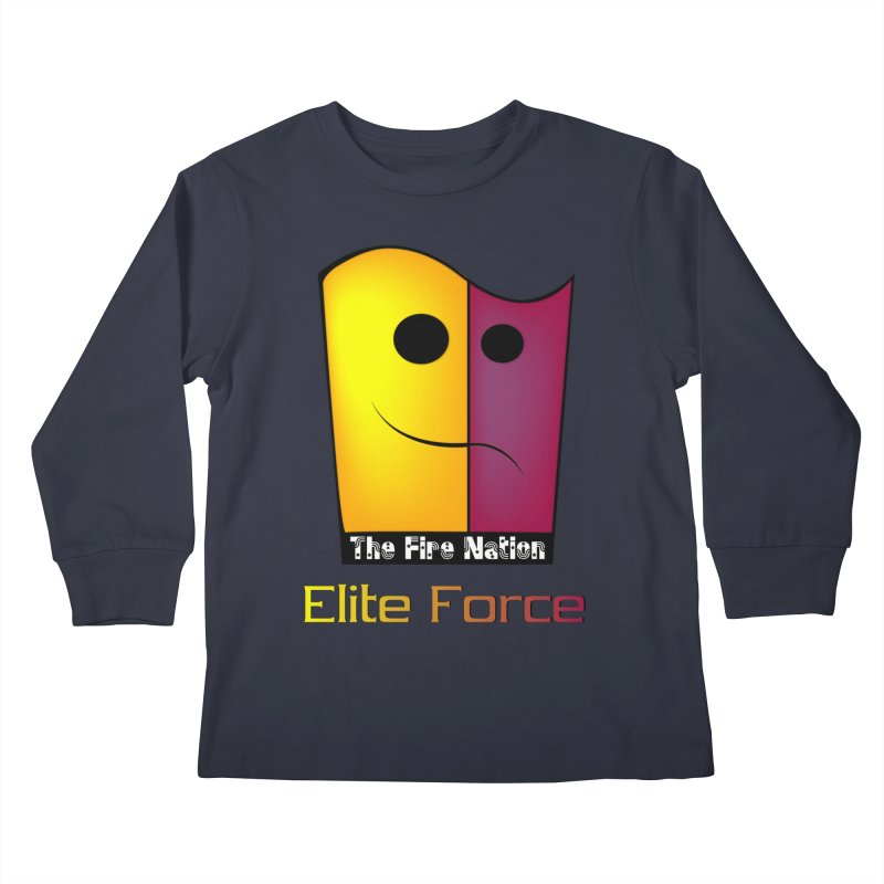 Fire Nation Elite Force Kids Longsleeve T-Shirt by 8010az's Shop