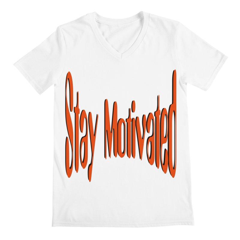 Stay Motivated Men's Regular V-Neck by 8010az's Shop