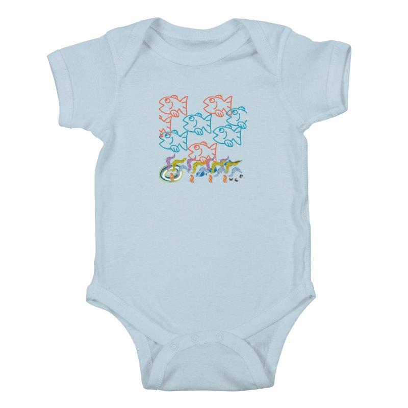 Sea Life - Nature Kids Baby Bodysuit by 8010az's Shop