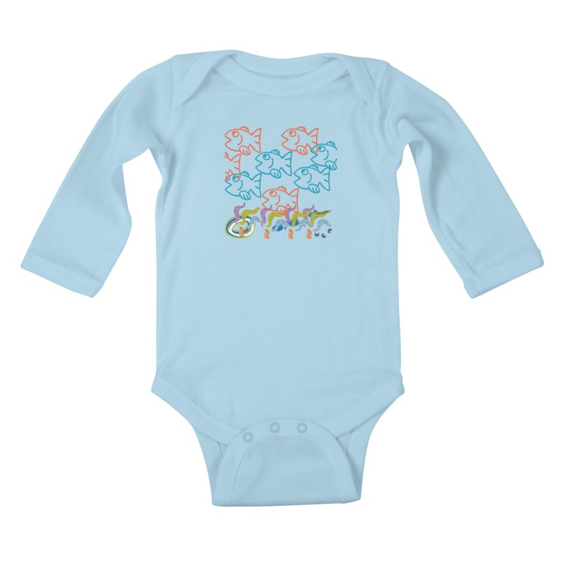 Sea Life - Nature Kids Baby Longsleeve Bodysuit by 8010az's Shop