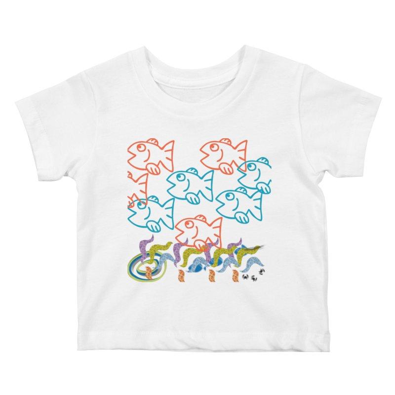 Sea Life - Nature Kids Baby T-Shirt by 8010az's Shop