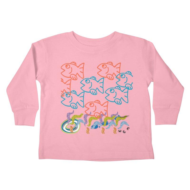 Sea Life - Nature Kids Toddler Longsleeve T-Shirt by 8010az's Shop