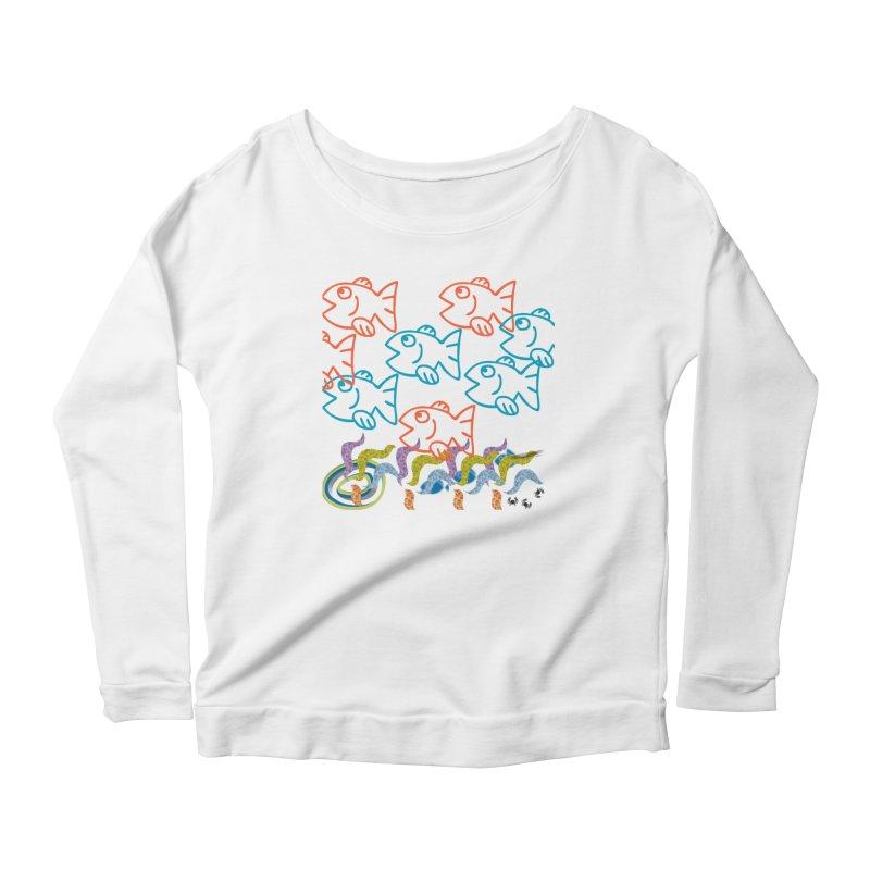 Sea Life - Nature Women's Scoop Neck Longsleeve T-Shirt by 8010az's Shop