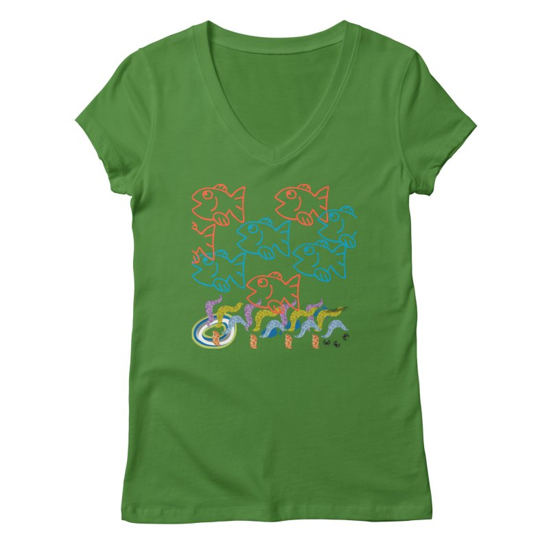 Sea Life - Nature Women's Regular V-Neck by 8010az's Shop