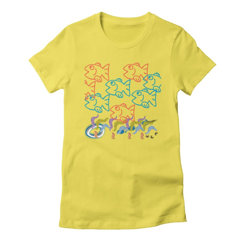 Sea Life - Nature Women's Fitted T-Shirt by 8010az's Shop