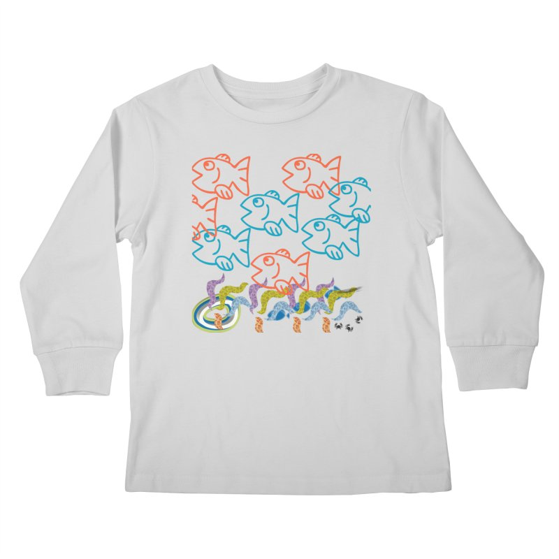 Sea Life - Nature Kids Longsleeve T-Shirt by 8010az's Shop