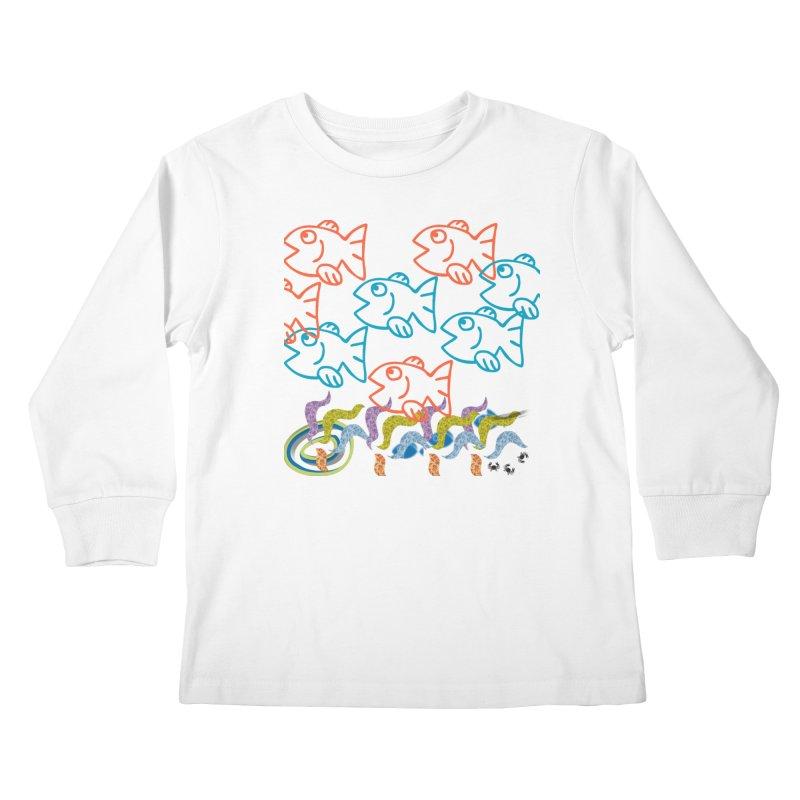 Sea Life - Nature Kids Longsleeve T-Shirt by 8010az's Shop