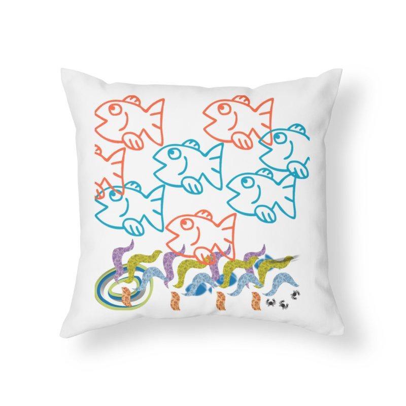 Sea Life - Nature Home Throw Pillow by 8010az's Shop
