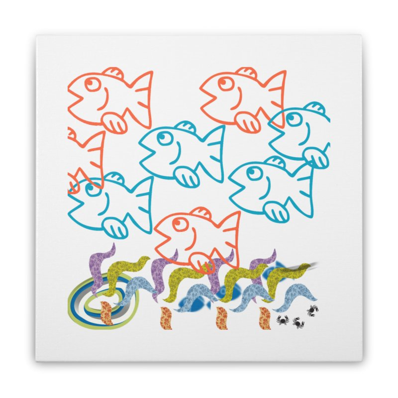 Sea Life - Nature Home Stretched Canvas by 8010az's Shop