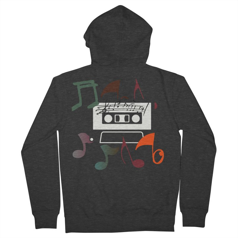 Vintage Music Women's French Terry Zip-Up Hoody by 8010az's Shop