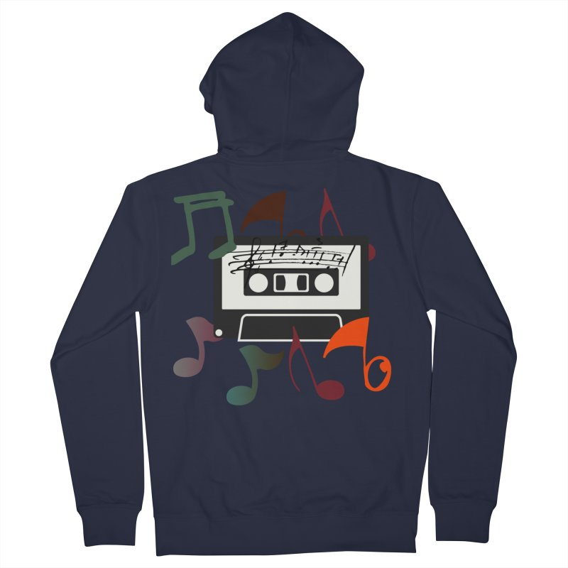 Vintage Music Men's French Terry Zip-Up Hoody by 8010az's Shop