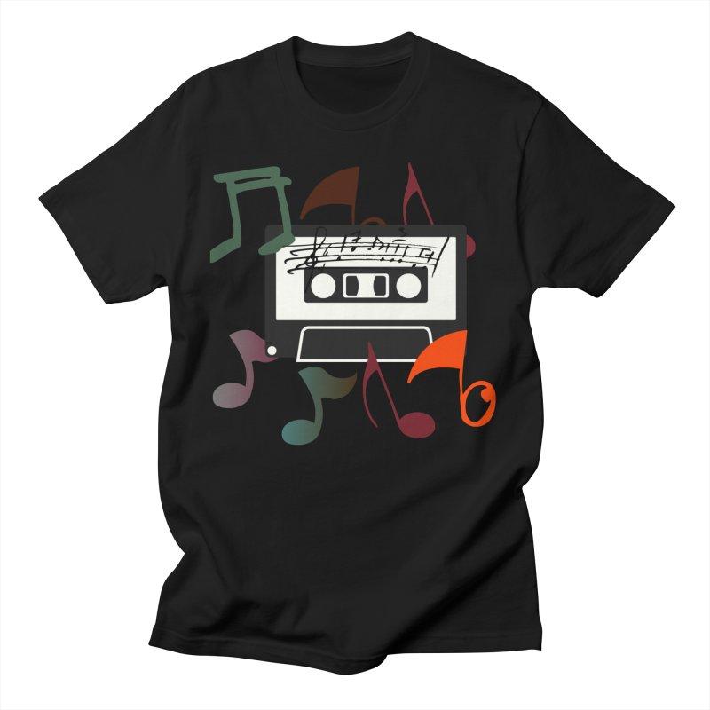 Vintage Music Men's Regular T-Shirt by 8010az's Shop