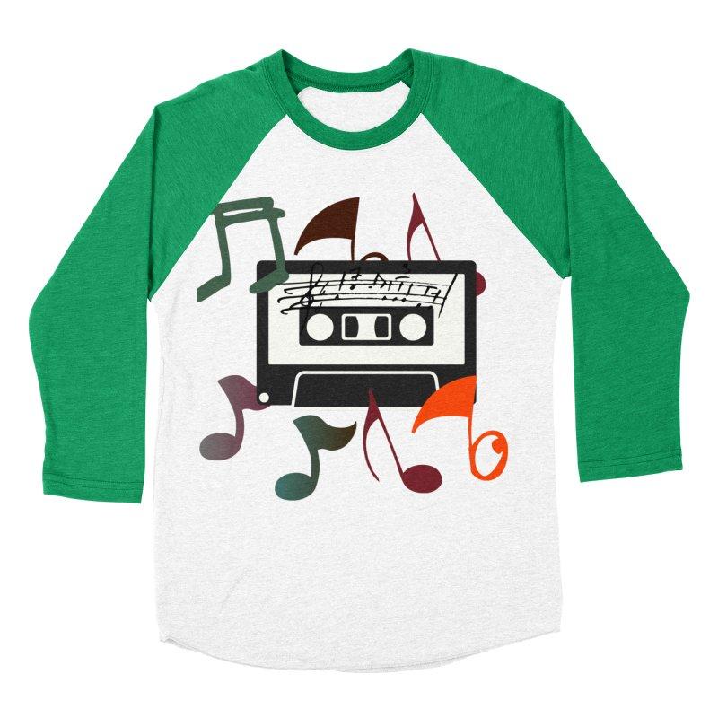 Vintage Music Women's Baseball Triblend Longsleeve T-Shirt by 8010az's Shop