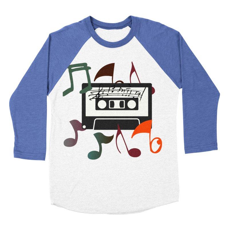 Vintage Music Men's Baseball Triblend Longsleeve T-Shirt by 8010az's Shop