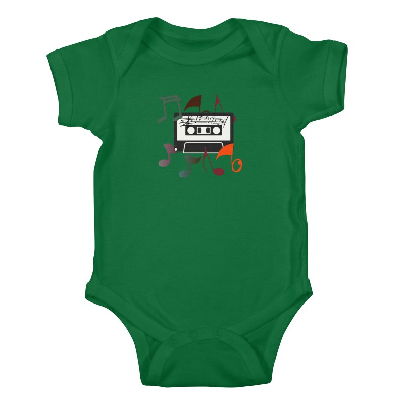 Vintage Music Kids Baby Bodysuit by 8010az's Shop