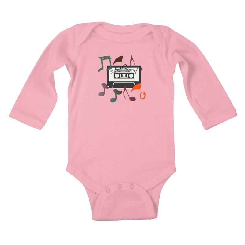 Vintage Music Kids Baby Longsleeve Bodysuit by 8010az's Shop