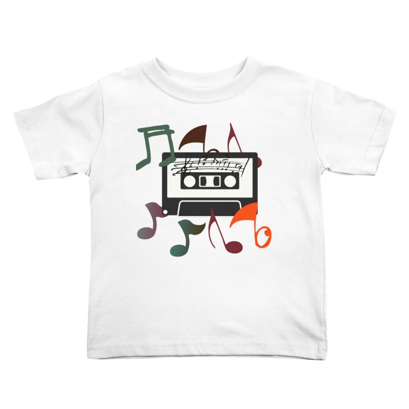 Vintage Music Kids Toddler T-Shirt by 8010az's Shop