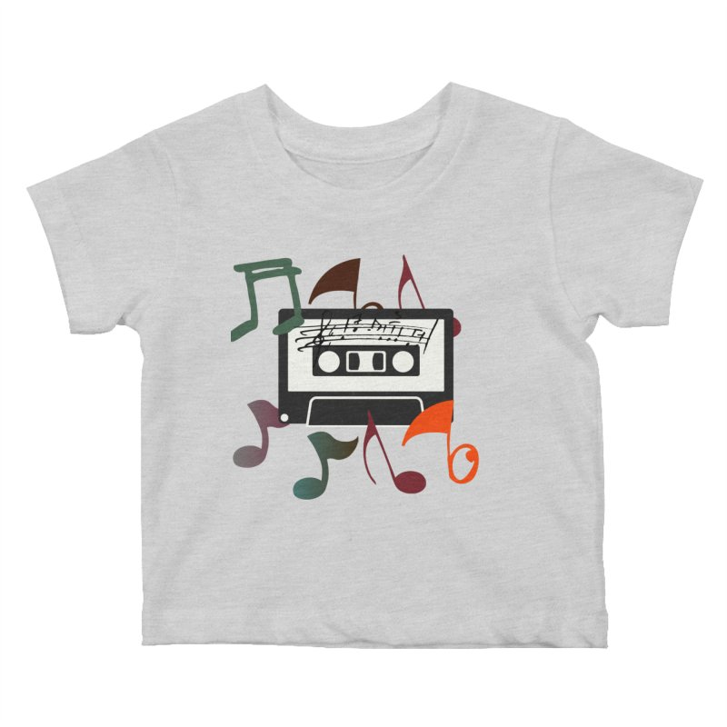Vintage Music Kids Baby T-Shirt by 8010az's Shop