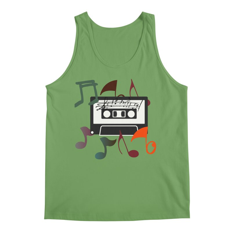 Vintage Music Men's Tank by 8010az's Shop