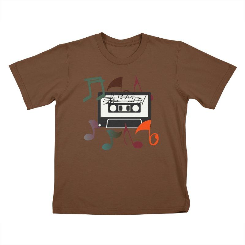 Vintage Music Kids T-Shirt by 8010az's Shop