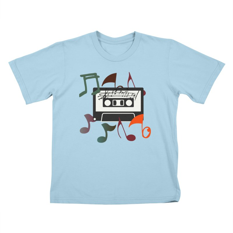 Vintage Music Kids T-Shirt by 8010az's Shop