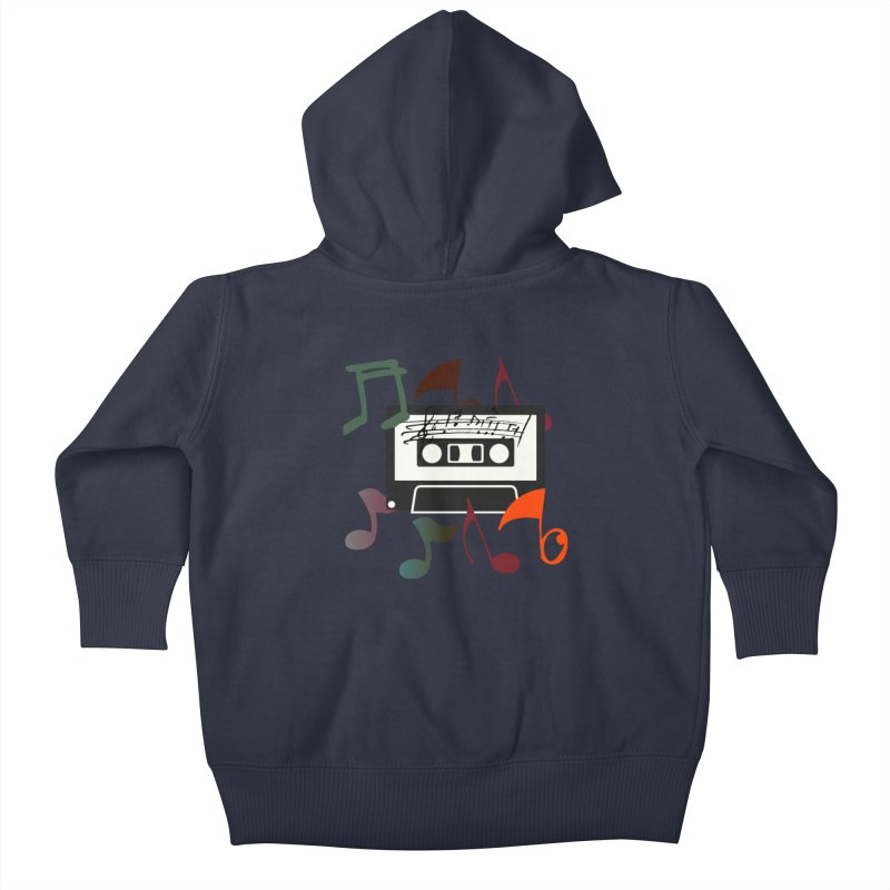 Vintage Music Kids Baby Zip-Up Hoody by 8010az's Shop
