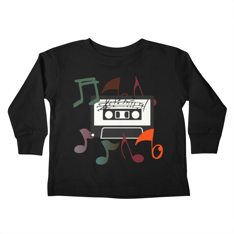 Vintage Music Kids Toddler Longsleeve T-Shirt by 8010az's Shop