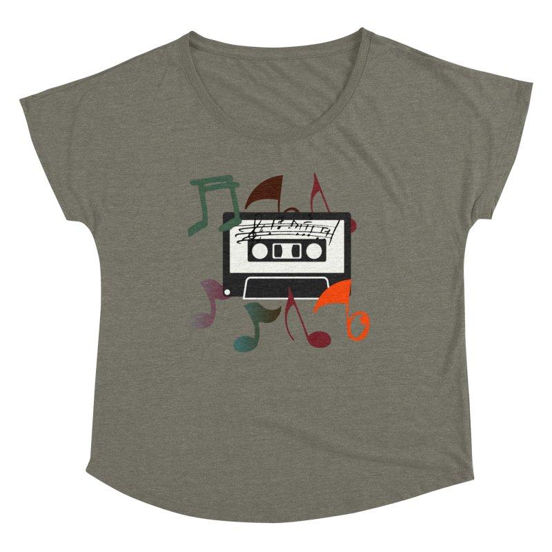 Vintage Music Women's Dolman Scoop Neck by 8010az's Shop