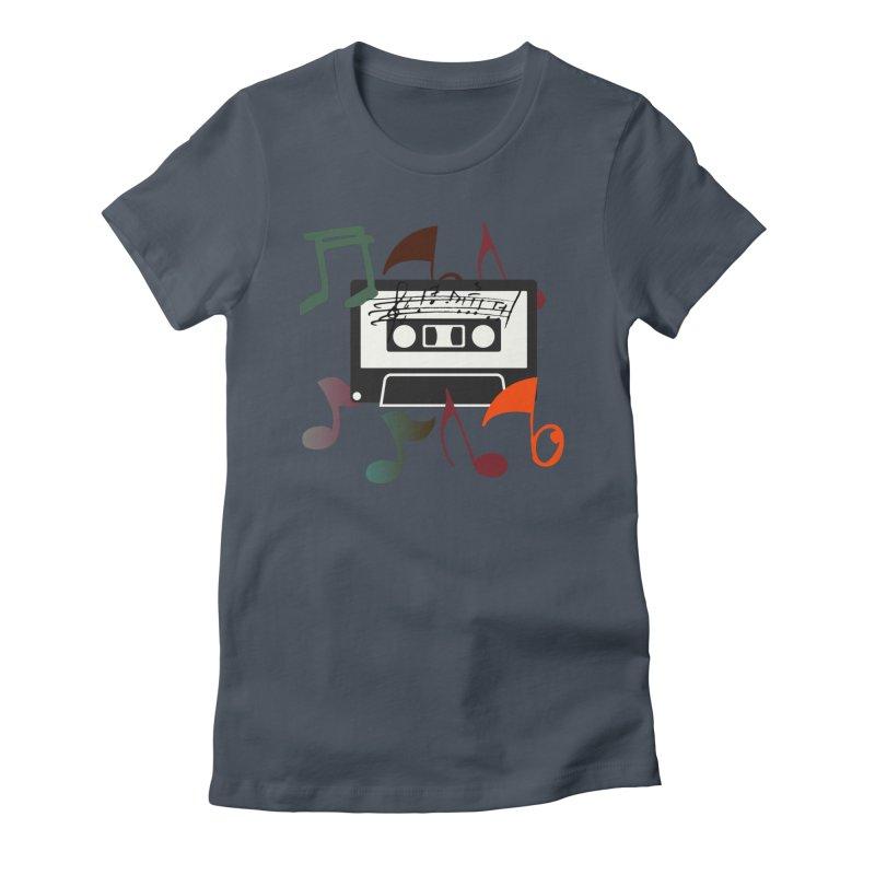 Vintage Music Women's T-Shirt by 8010az's Shop